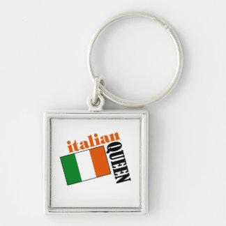 Italian Queen & Flag Keychain