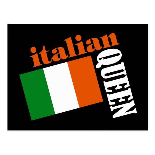 Italian Queen & Flag Post Card
