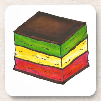 Italian Rainbow Christmas Cookie Coasters