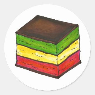 Italian Rainbow Cookie Round Stickers