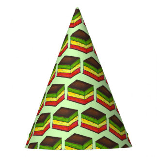 Italian Rainbow Seven Layer Christmas Xmas Cookie Party Hat