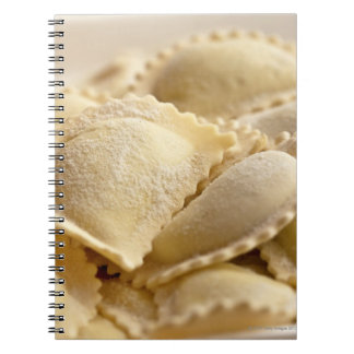 italian ravioli spiral notebook
