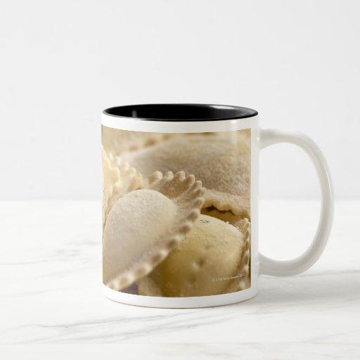 italian ravioli Two-Tone coffee mug