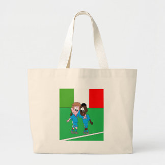 Italian reason Italy flags and players Canvas Bag