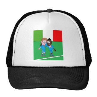 Italian reason Italy flags and players Trucker Hat