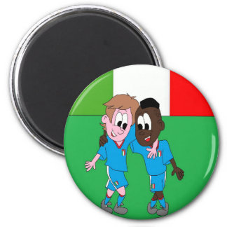 Italian reason Italy flags and players 2 Inch Round Magnet