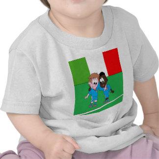 Italian reason Italy flags and players