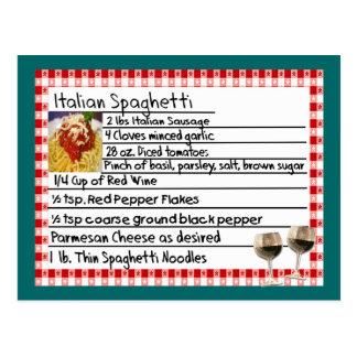"""Italian Recipe Card Gifts """"Spaghetti"""""""