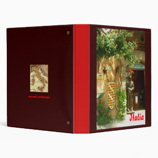 Italian Recipes or Pictures Gifts 3 Ring Binder