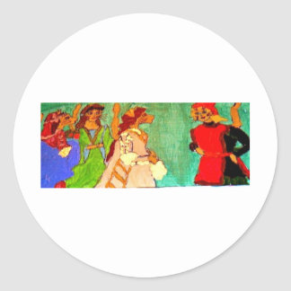 Italian Renaissance Classic Round Sticker
