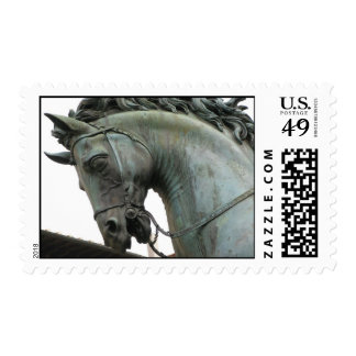 Italian Renaissance sculpture of a horse Postage Stamp