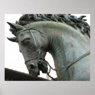 Italian Renaissance sculpture of a horse Print