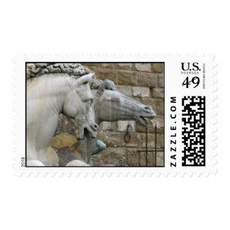 Italian Renaissance sculpture of  horses Postage Stamp