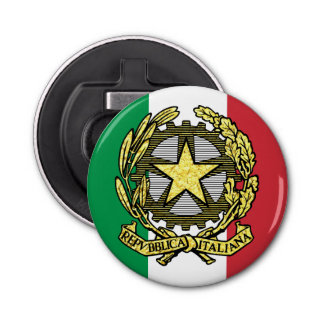 Italian Republic and Italian Flag Bottle Opener