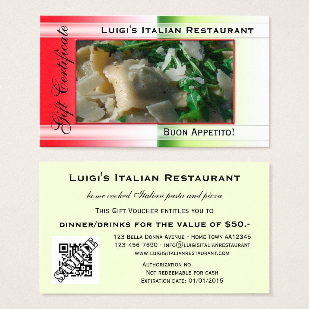 14 restaurant gift certificates free premium templates italian restaurant gift certificate template xflitez Images