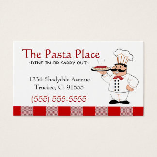Italian Restaurant | Pizza Business Business Card