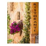 Italian Restaurant Post Card