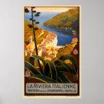 Italian Riviera Europe Italy Travel Poster