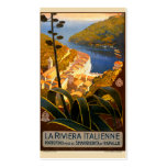 Italian Riviera Europe Italy Travel Poster Business Cards