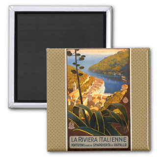 Italian Riviera Europe Italy Travel Poster Magnet