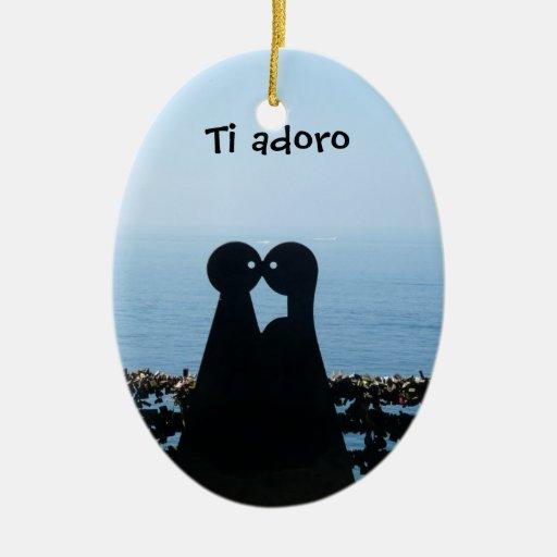 Italian Riviera, Ti Adoro Christmas Ornament
