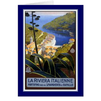 Italian Riviera Travel Poster Card