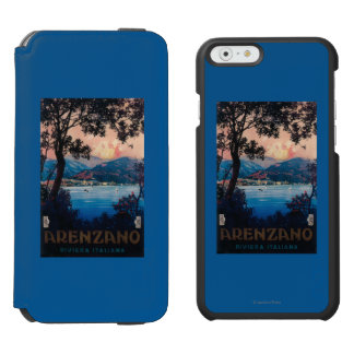 Italian Riviera Travel Poster iPhone 6/6s Wallet Case