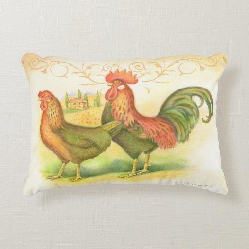 Zazzle Italian rooster and hen villa in background Decora...