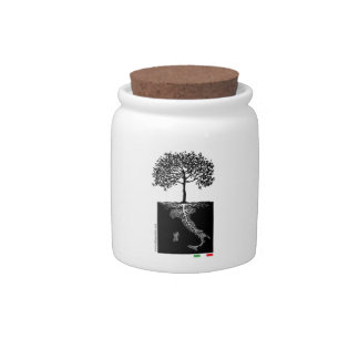 Italian Roots Candy jar