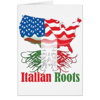 italian roots card