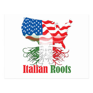 italian roots postcard