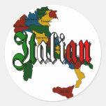 Italian Round Stickers