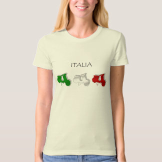 Italian Scooters Italy flag scooter T-shirt