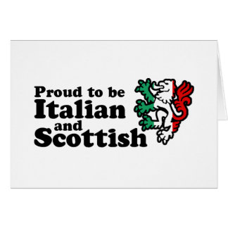 Italian Scottish Card