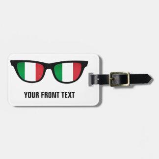 Italian Shades custom luggage tag