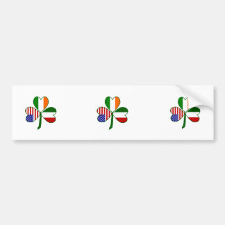 Italian Shamrock Bumper Stickers
