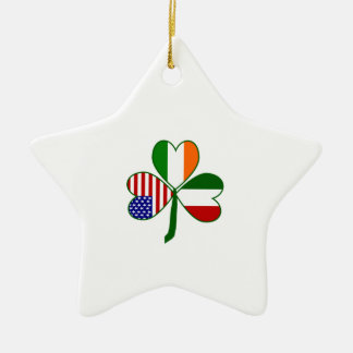 Italian Shamrock Ceramic Ornament