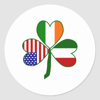 Italian Shamrock Classic Round Sticker