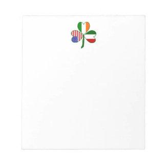 Italian Shamrock Note Pad