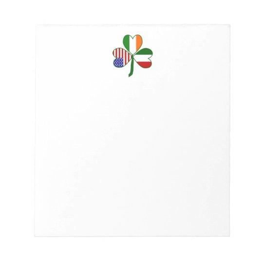 Italian Shamrock Notepad