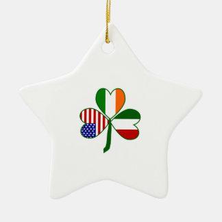 Italian Shamrock Christmas Ornament