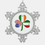 Italian Shamrock Ornaments