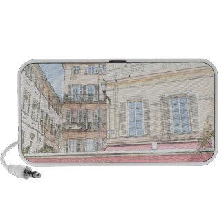 Italian Sidewalk Cafe Laptop Speaker