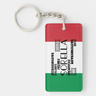 Italian Sisters : Qualities Keychain
