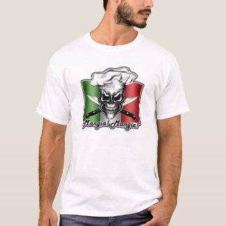 Italian Skull Chef: Mangia! Mangia! T-Shirt