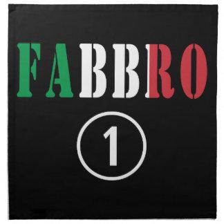 Italian Smiths : Fabbro Numero Uno Printed Napkins