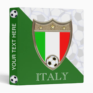 "Italian Soccer 1"" 3 Ring Binder"