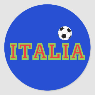 Italian Soccer Classic Round Sticker