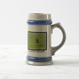 ITALIAN SOCCER PHOTOS BEER STEIN