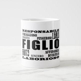 Italian Sons : Qualities 20 Oz Large Ceramic Coffee Mug